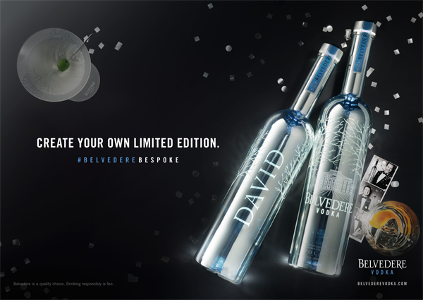 BELVEDERE VODKA Bespoke Bottle LE 01