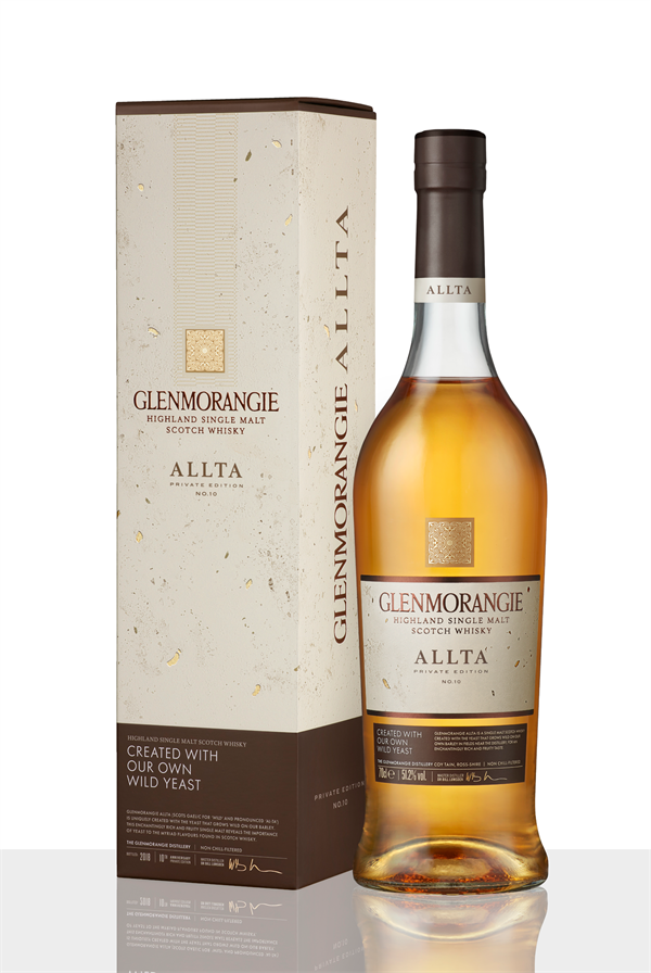 Glenmorangie Private Edition 10 Allta_Bottle with Carton on White Background