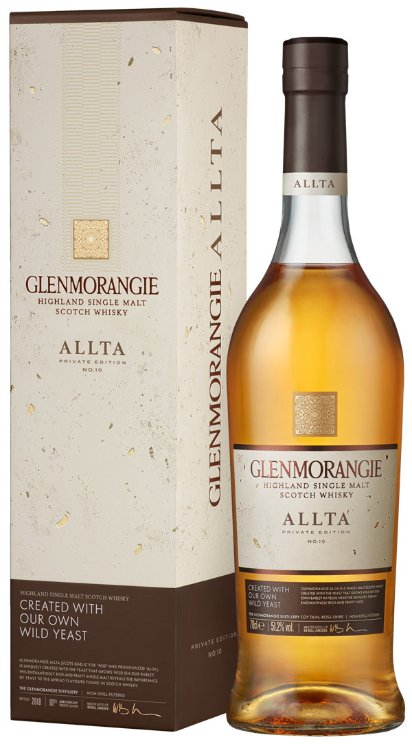 Glenmorangie Private Edition 10 Allta_Bottle with Carton on Transparent Background