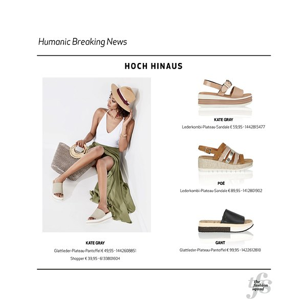 HUMANIC_Flatfrom Sandals_ONLINE