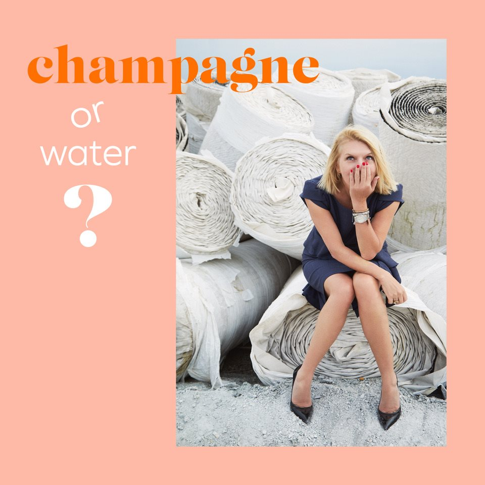 Liane Champagne or Water